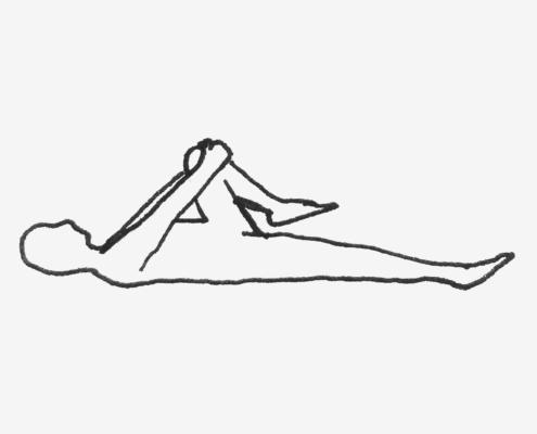 Foldeded Knee Pose