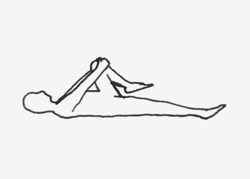 Foldeded Knee Pose