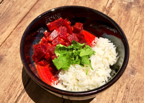 Beetroot Coconut Curry